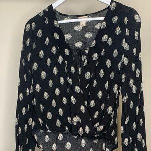 Black patterned blouse